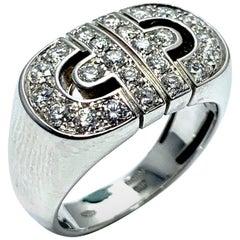 Bulgari Parentesi Diamond and 18 Karat White Gold Ring