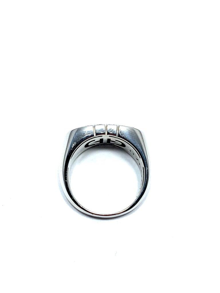 Bulgari Parentesi Diamond and 18 Karat White Gold Ring For Sale 1