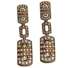 Bulgari Parentesi Diamond Drop Earrings