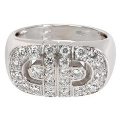 Bulgari Parentesi Diamond Fashion Ring in 18 Karat White Gold 1 Carat
