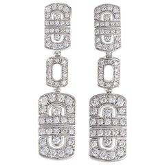 Bulgari Parentesi Diamond Gold 18 Karat Drop Earrings