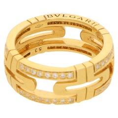 Bvlgari Parentesi Diamond Eternity Ring in 18K Yellow Gold