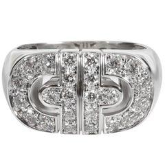 Bulgari Parentesi Diamond Ring in 18 Karat White Gold 0.83 Carat