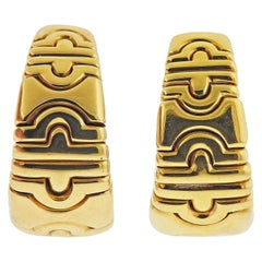 Bulgari Parentesi Gold Hoop Earrings