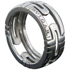 Bulgari Parentesi White Gold Band Ring