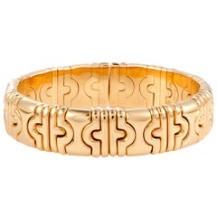 Bulgari Parentesi Yellow Gold Bangle Bracelet