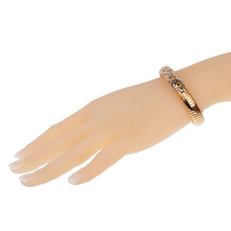 Bulgari Parentesi Yellow Gold Cuff Bangle Bracelet For Sale 1