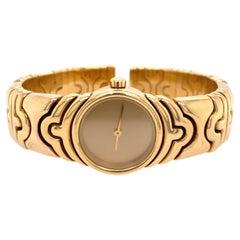 Bulgari Parentesi Yellow Gold Watch Bracelet