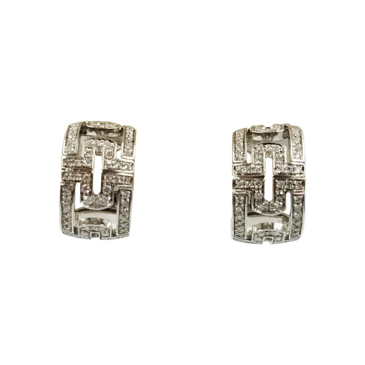 Bulgari Parentesti Diamond Hoop Earrings