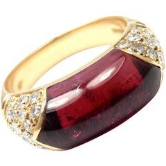 Bulgari Pink Tourmaline Diamond Yellow Gold Ring