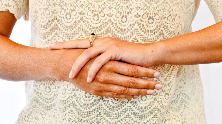 Bulgari Pink Tourmaline Pave Diamond 18 Karat Gold Italian Cabochon Band Ring For Sale 7