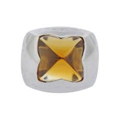 Bulgari Piramide Citrine White Gold Ring