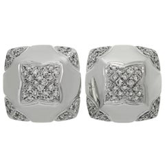 Bulgari Pyramid Diamond White Gold Earrings