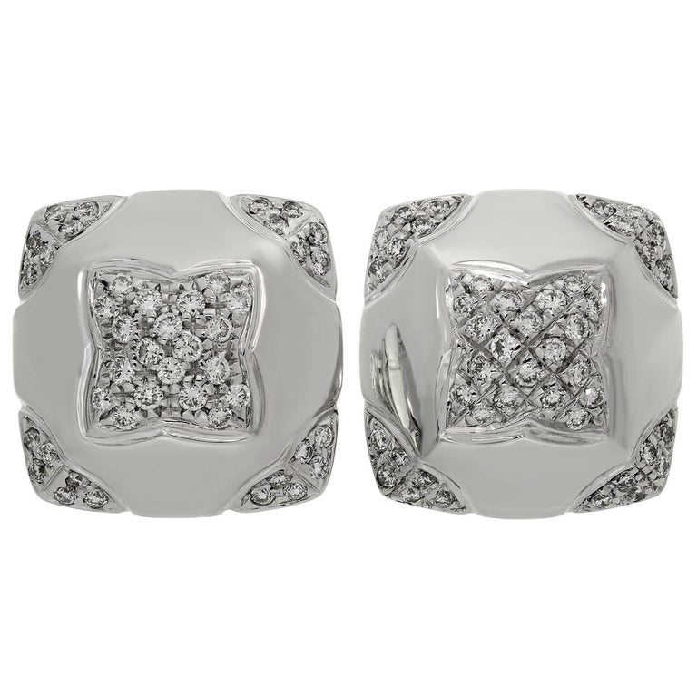 Bulgari Pyramid Diamond White Gold Earrings