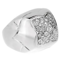 Bulgari Pyramid Diamond White Gold Ring
