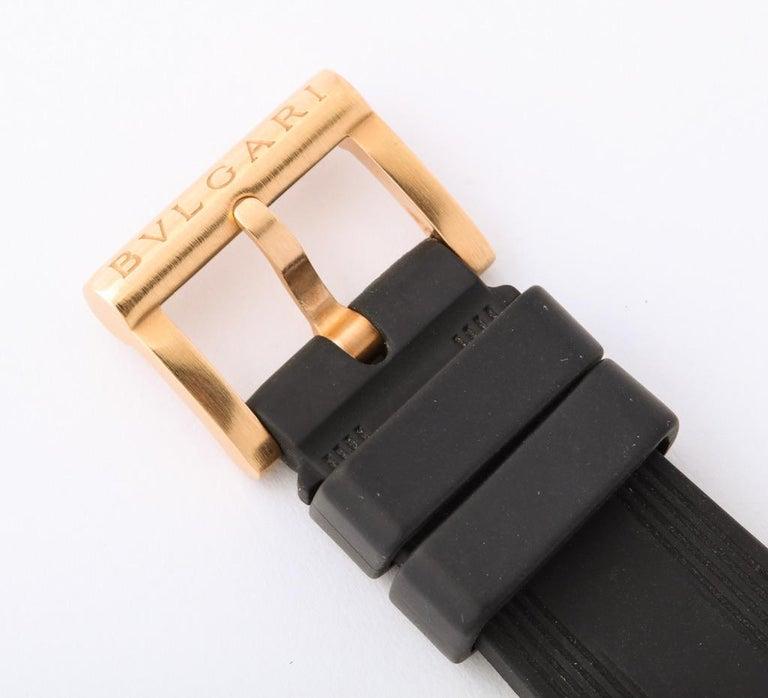 Bulgari Rose Gold Diamond Diagono Chronograph Watch For Sale 5