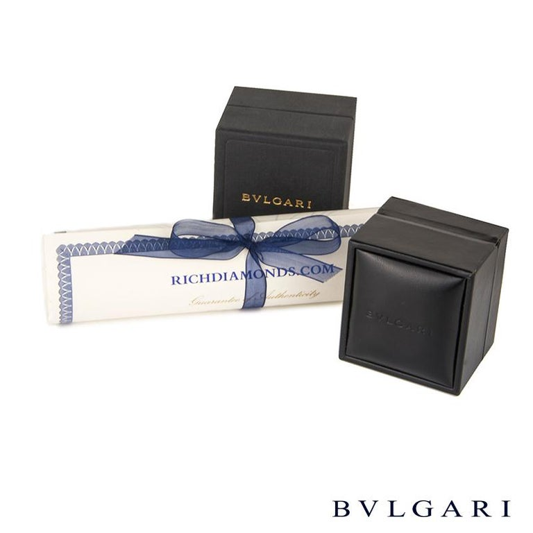 Bulgari Rose Gold Diamond Serpenti Earrings For Sale 1