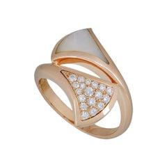 Bulgari Rose Gold Divas Dream Ring Diamond and Mother of Pearl