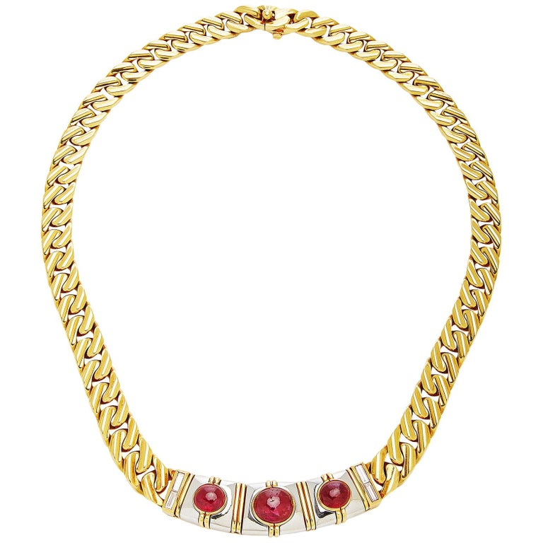 Bulgari Ruby Chain Necklace For Sale