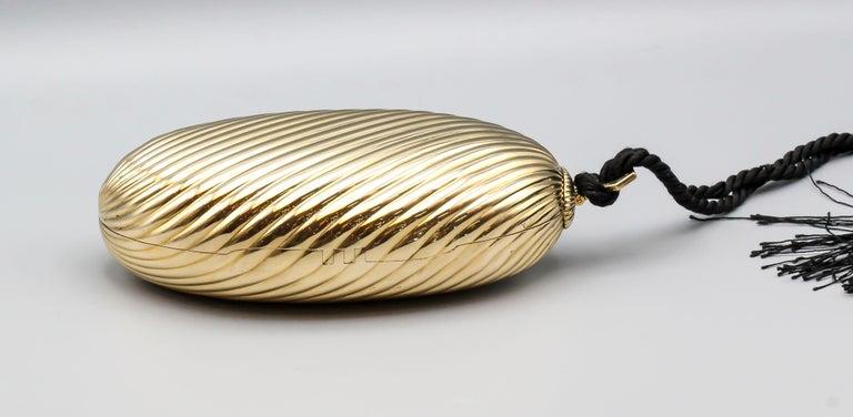 Cabochon Bulgari Sapphire 18 Karat Gold Melon Purse Evening Bag For Sale