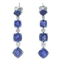 Bulgari Sapphire and Diamond Earrings