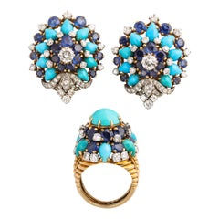Sapphire Clip-on Earrings
