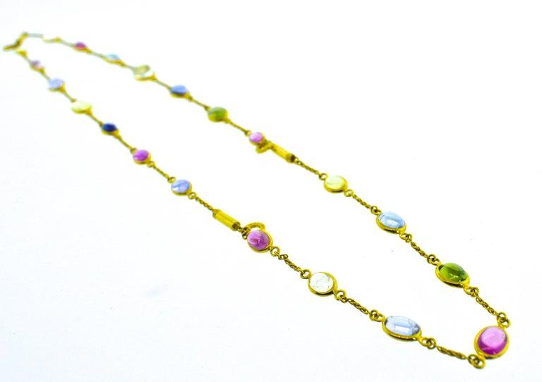 Bulgari Sapphire Stone 18 Karat Necklace Which Converts to 3 Bracelets For Sale 6