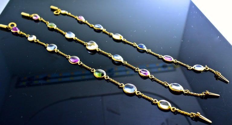 Bulgari Sapphire Stone 18 Karat Necklace Which Converts to 3 Bracelets For Sale 1