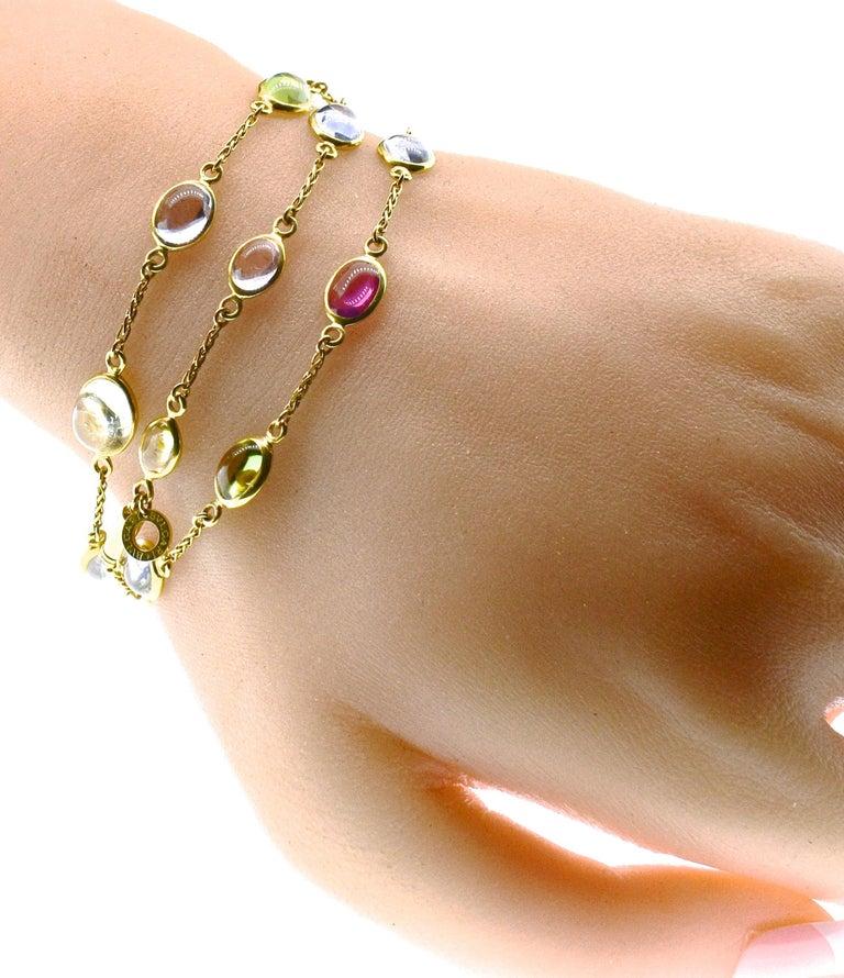 Bulgari Sapphire Stone 18 Karat Necklace Which Converts to 3 Bracelets For Sale 2