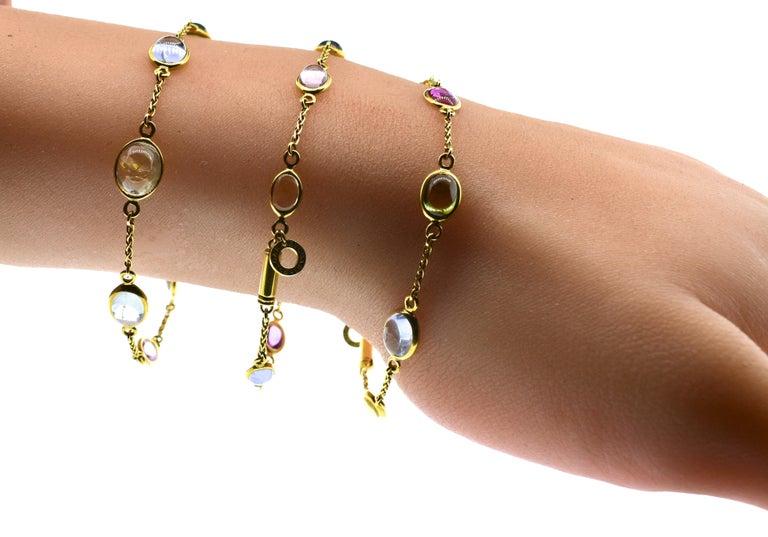 Bulgari Sapphire Stone 18 Karat Necklace Which Converts to 3 Bracelets For Sale 3