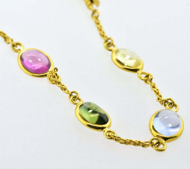 Bulgari Sapphire Stone 18 Karat Necklace Which Converts to 3 Bracelets For Sale 4