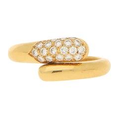 Bvlgari Serpenti Diamond Ring 18K Yellow Gold