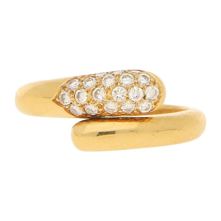 Bvlgari Serpenti Diamond Ring 18K Yellow Gold For Sale