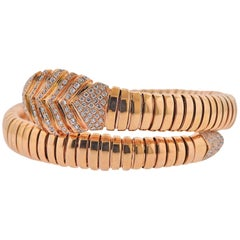 Bulgari Serpenti Diamond Rose Gold Bracelet