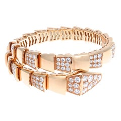 Bulgari Serpenti Diamond Rose Gold Bracelet