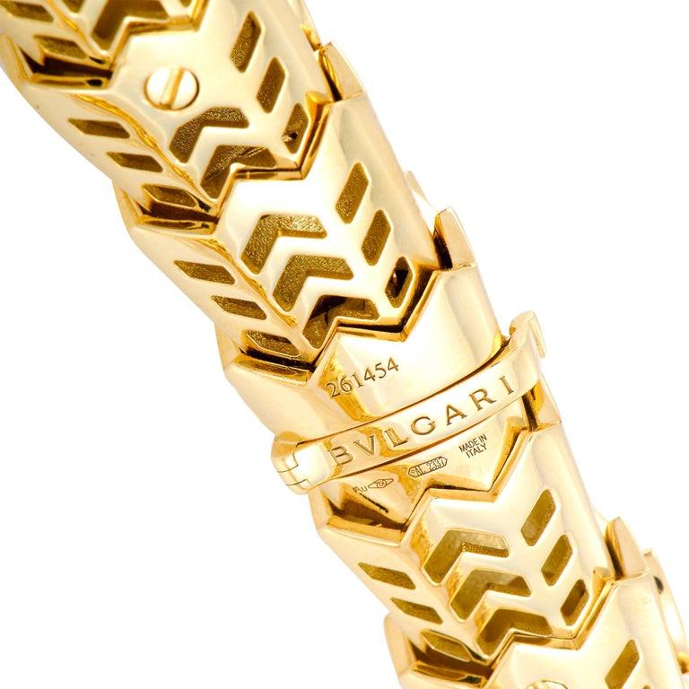 Bulgari Serpenti Full Diamond and Ruby Yellow and White Gold Snake Necklace 1