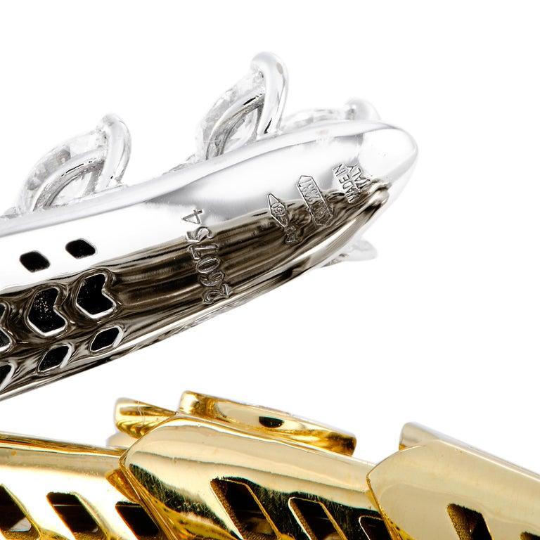 Bulgari Serpenti Full Diamond Pave and Ruby Yellow and White Gold Snake Bracelet 3
