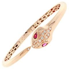 Bulgari Serpenti Rose Gold Diamond Bracelet