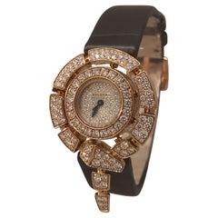 Bulgari Serpenti Rose Gold Pave Diamond Ladies Jewelry Watches Watch 102676