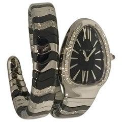 Bulgari Serpenti Spiga Watch with Diamonds