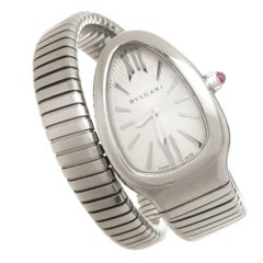 Bulgari Ladies Stainless Steel Serpenti Quartz Wristwatch