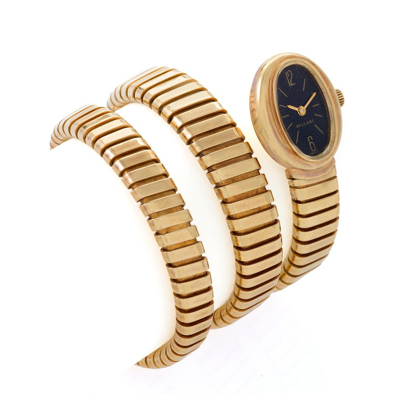 Bulgari Serpenti Tubogas Bracelet Watch In Excellent Condition In New York, NY
