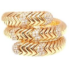 Bulgari Spiga Collection Diamond Gold Bracelet