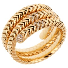 Bulgari Spiga Diamond Yellow Gold Bracelet