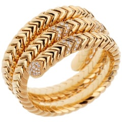 Bulgari Spiga Diamond Yellow Gold Bracelet