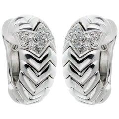 Bulgari Spiga White Gold Diamond Earrings