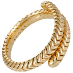 Bulgari Spiga Yellow Gold Bangle Bracelet