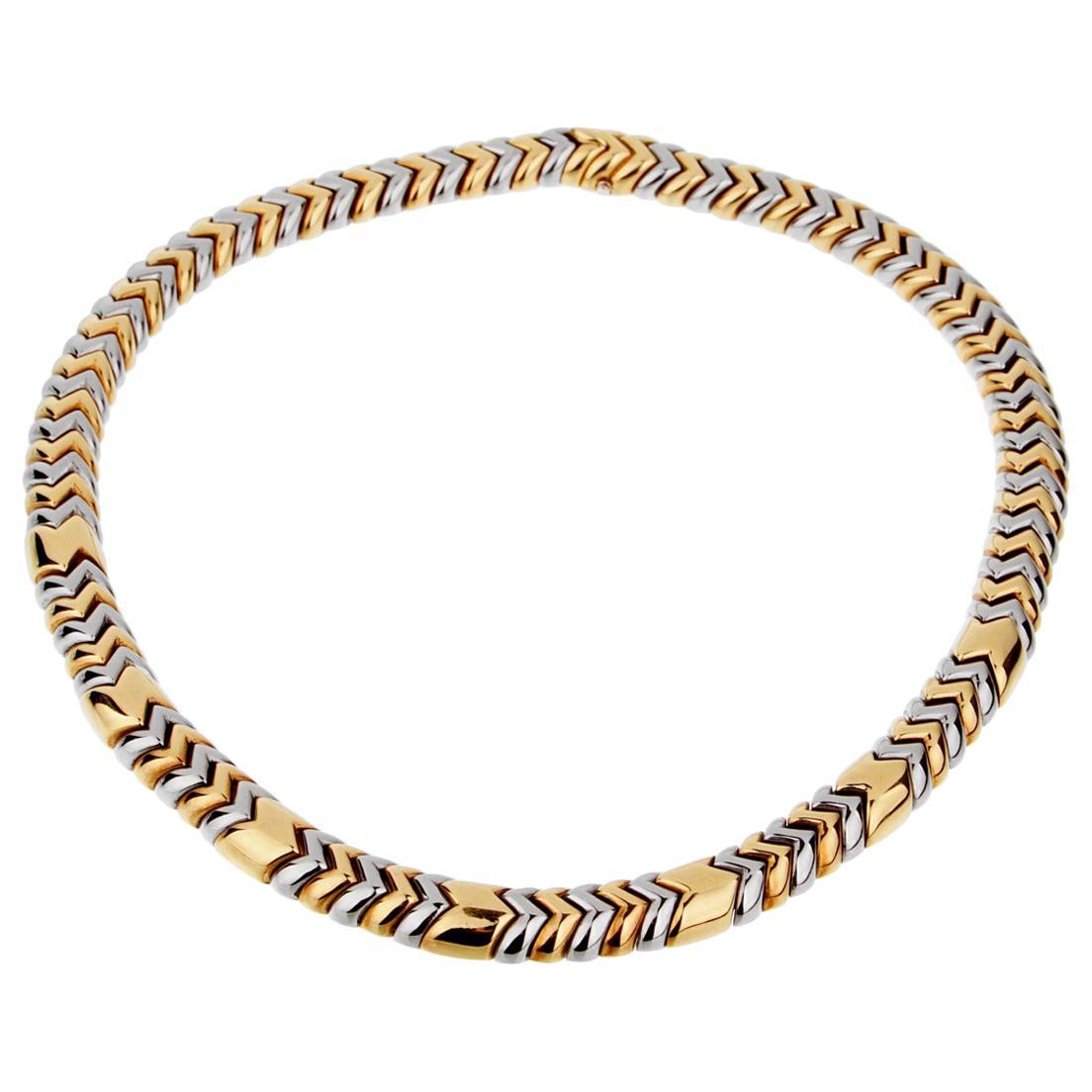 Bulgari Spiga Yellow Gold Choker Necklace