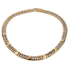 Bulgari Spiga Yellow Gold Choker Necklace