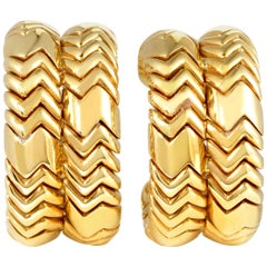 Bulgari Spiga Yellow Gold Clip-On Earrings